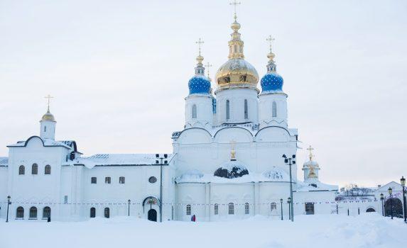 真冬のロシア トボリスクの風景