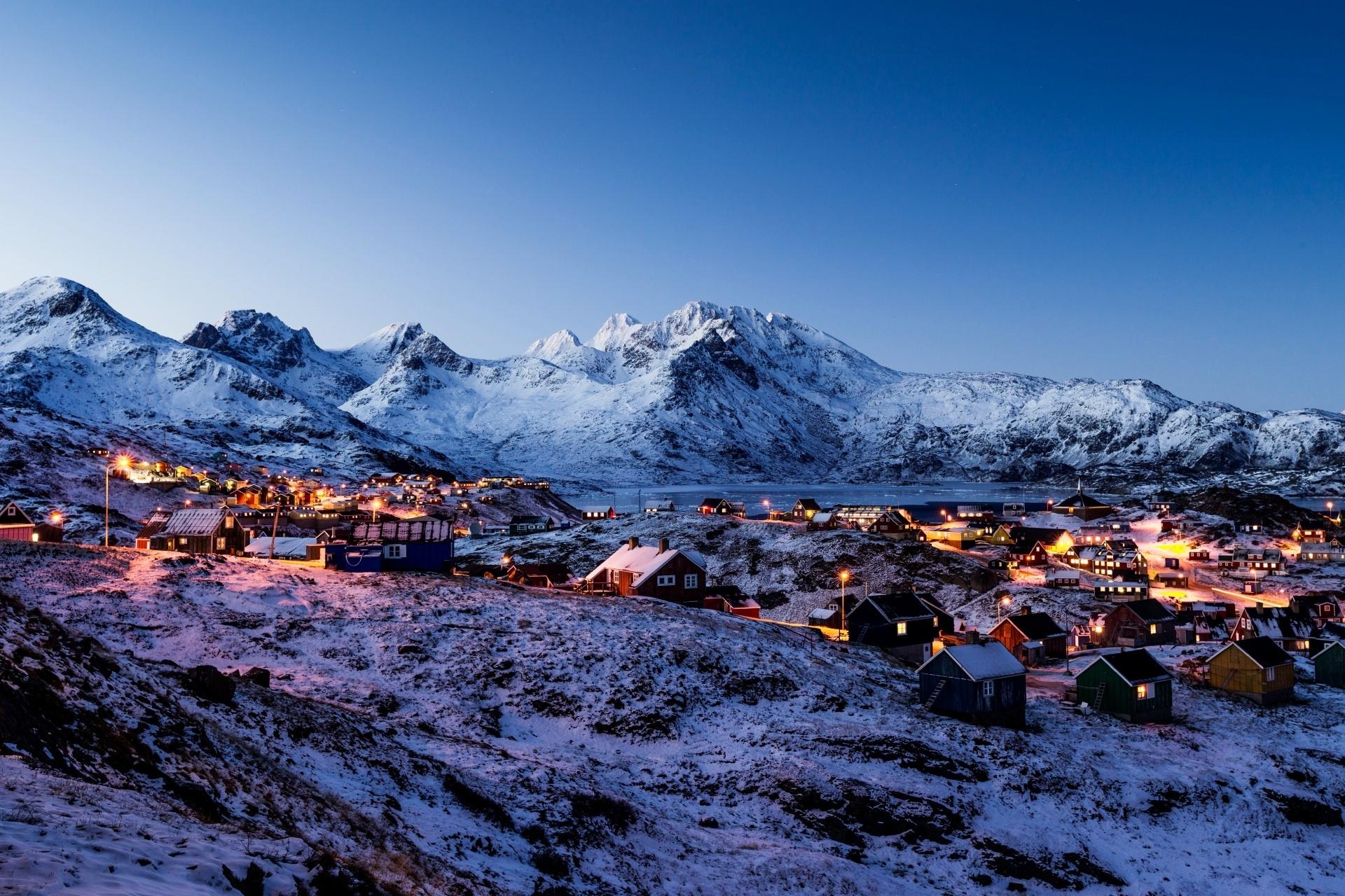 夕暮れのグリーンランド グリーンランドの風景