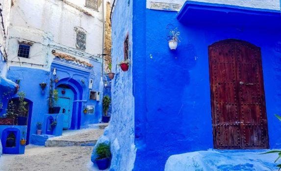 シャフシャウエンの町並み モロッコの風景