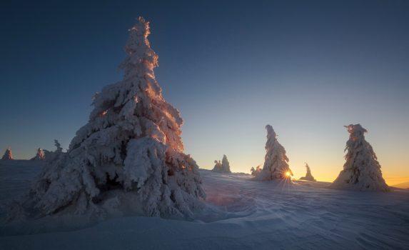 冬の山岳風景 スロバキアの風景