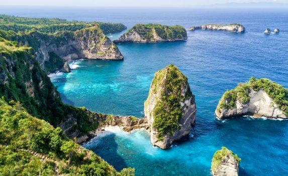 バリ島近海の島々 インドネシアの風景