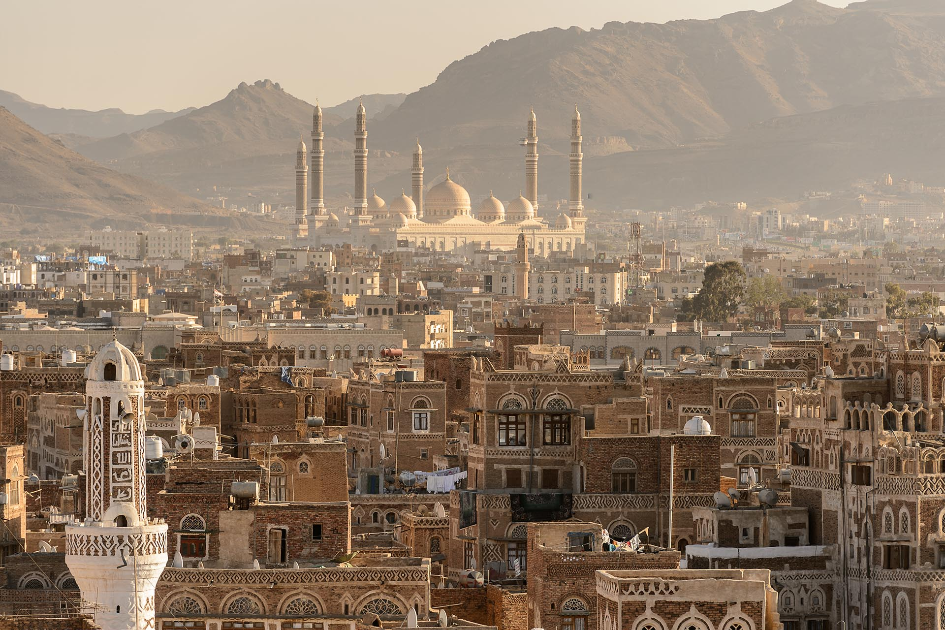 サナアの旧市街の風景 イエメンの風景
