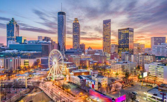 アトランタのダウンタウン風景 アメリカの風景