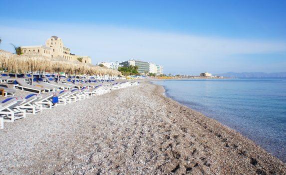 エーゲ海とロードス島の風景 ギリシャの風景