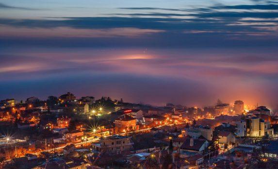 冬のヴァルナの風景 ブルガリアの風景