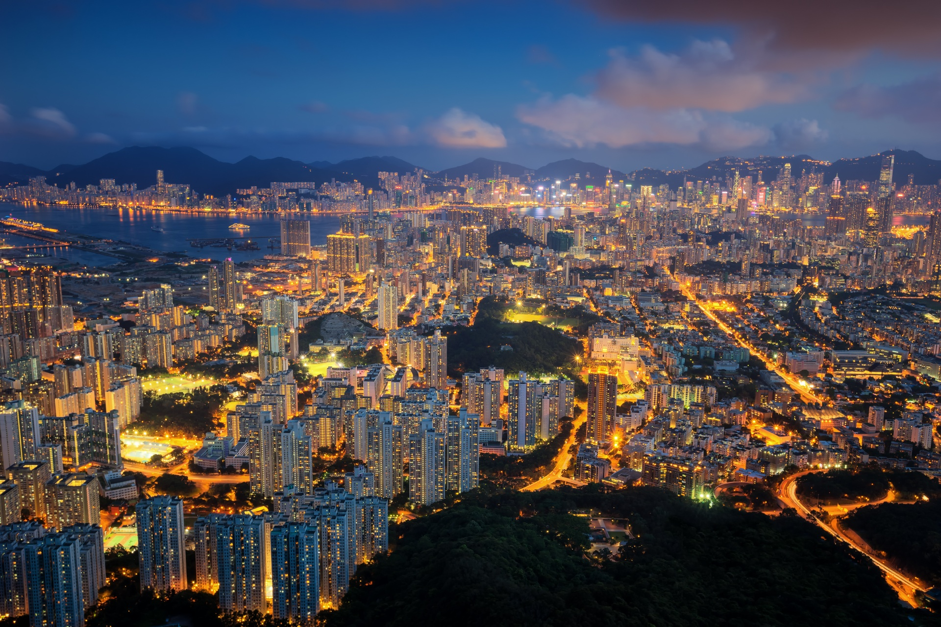 香港の夜景 香港の風景