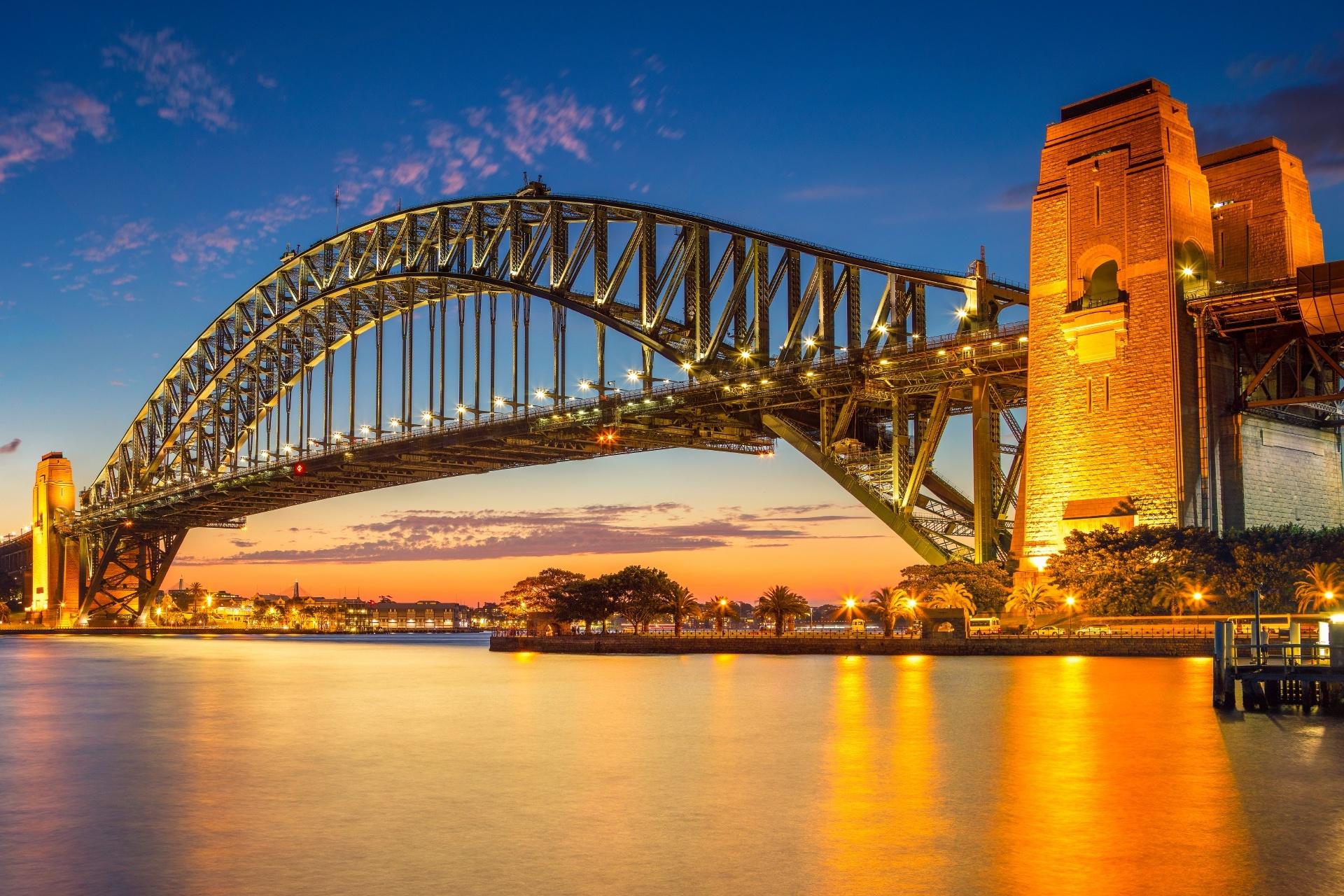 シドニーの夕暮れの風景 オーストラリアの風景