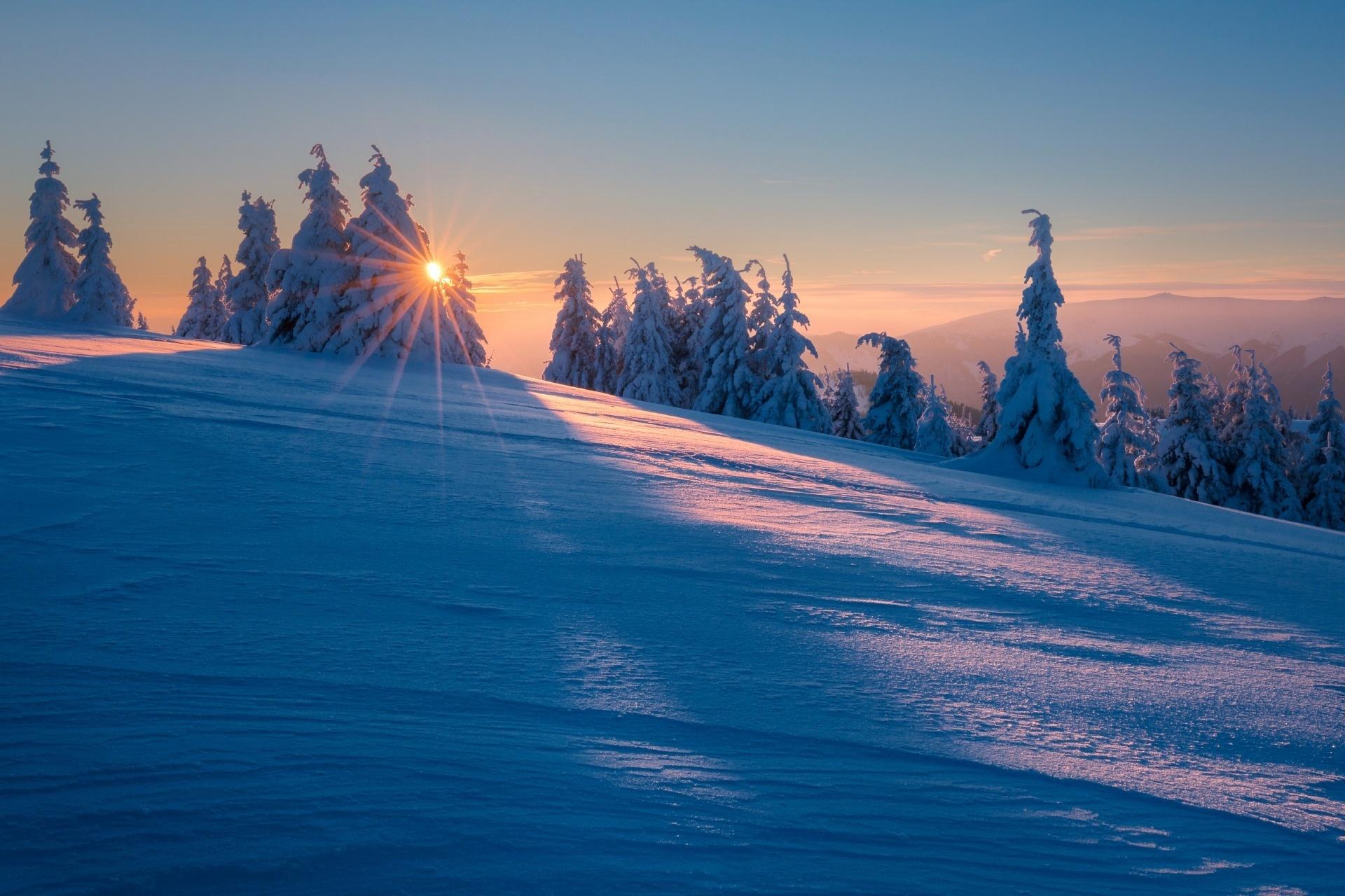 冬山の風景 スロバキアの風景