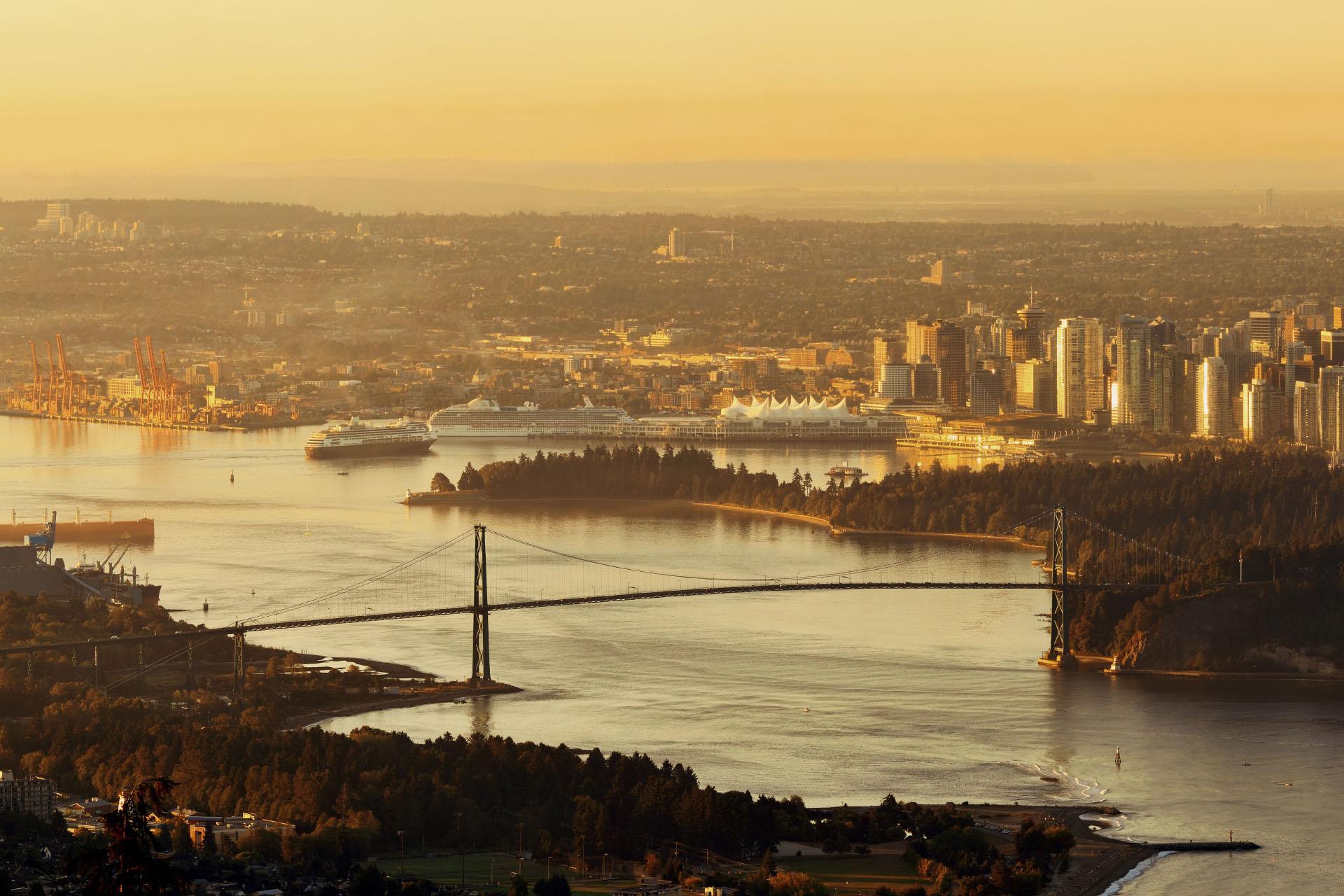 朝のバンクーバー カナダの風景
