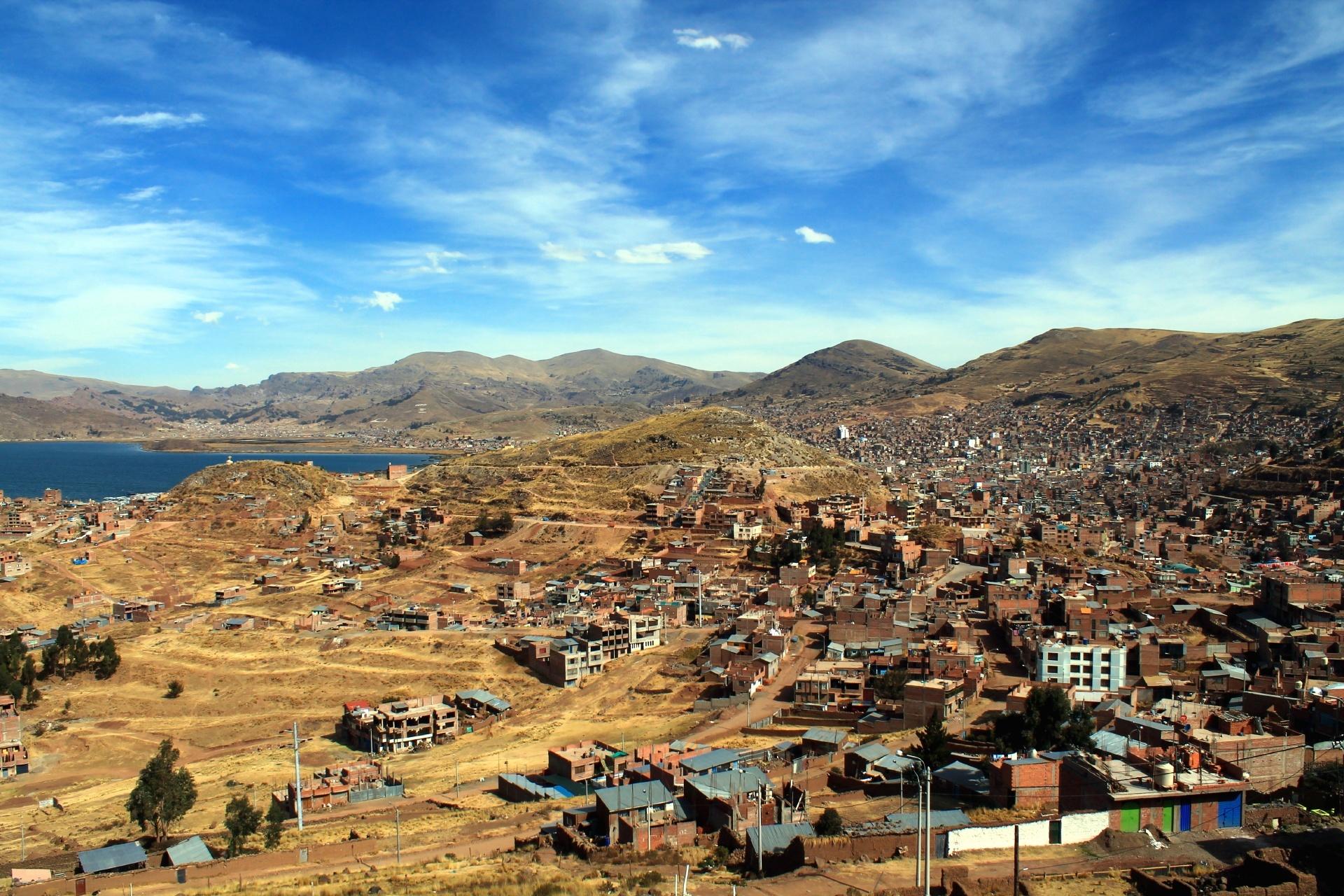 プーノの街並み ペルーの風景