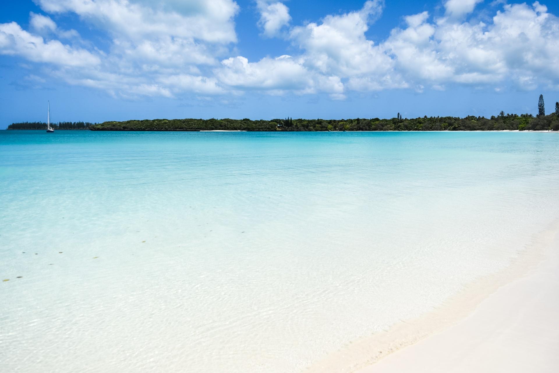 イル・デ・パンのビーチ ニューカレドニアの風景