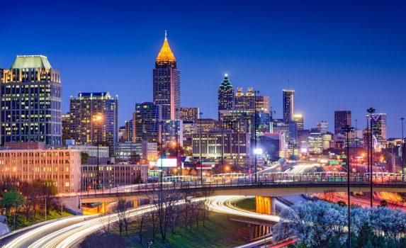 アトランタの夜景 アメリカの風景