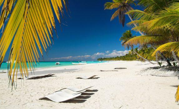 カリブ海のビーチの風景 ドミニカ共和国の風景