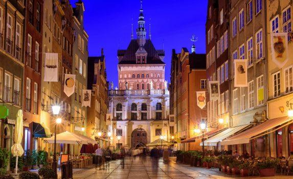 グダニスクの旧市街の風景 ポーランドの風景