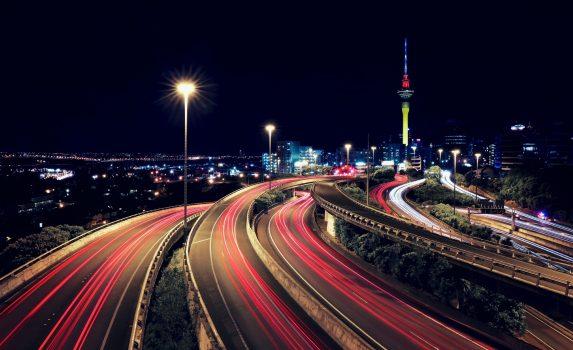 夜のオークランド ニュージーランドの風景