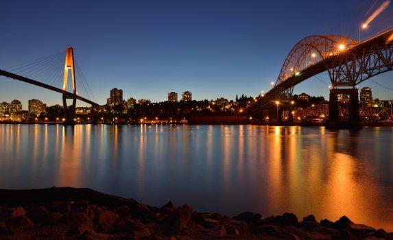 夜のバンクーバー カナダの風景