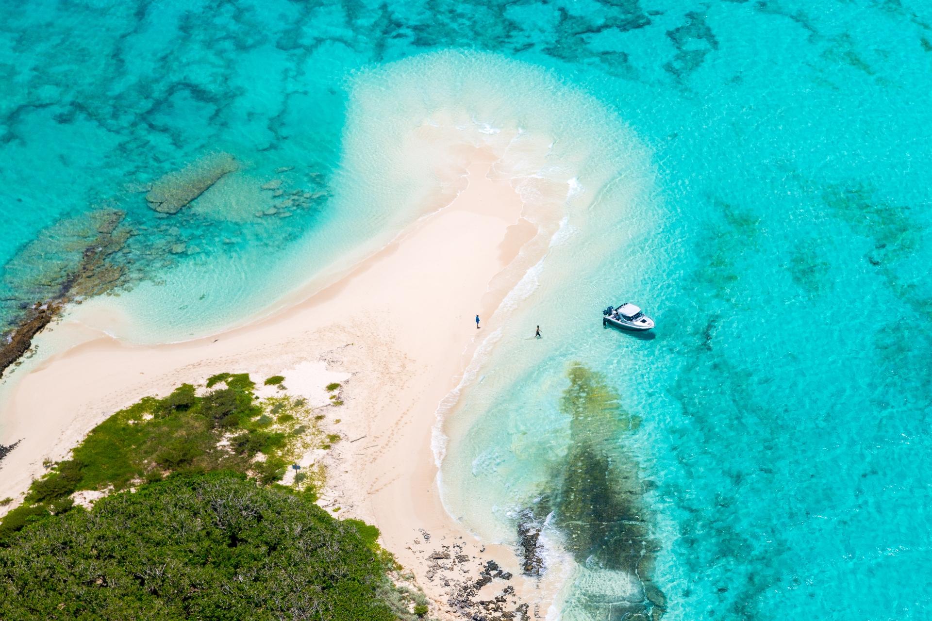 空から見るバリアリーフの風景 ニューカレドニアの風景