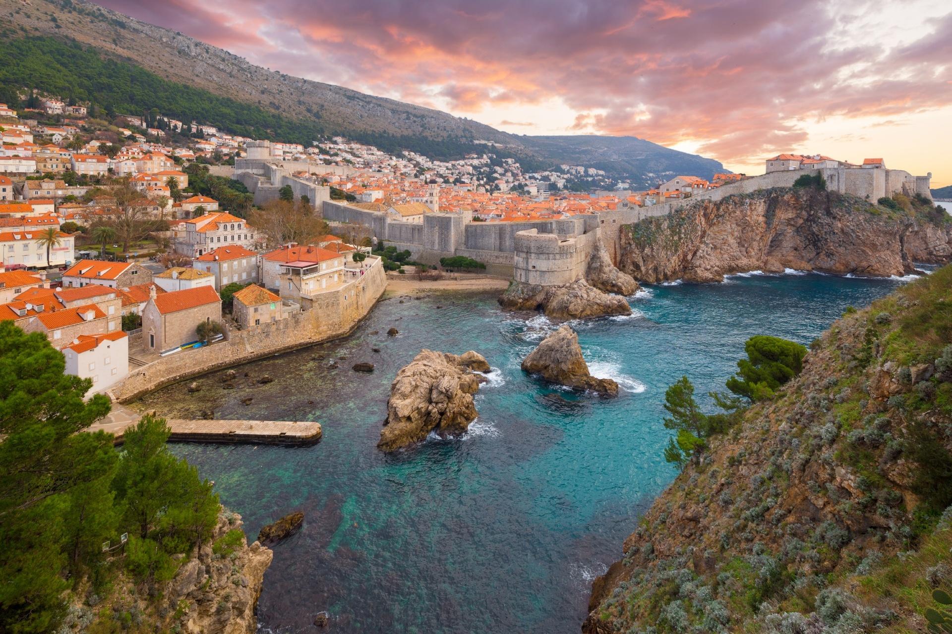 ドブロブニクの風景 クロアチアの風景