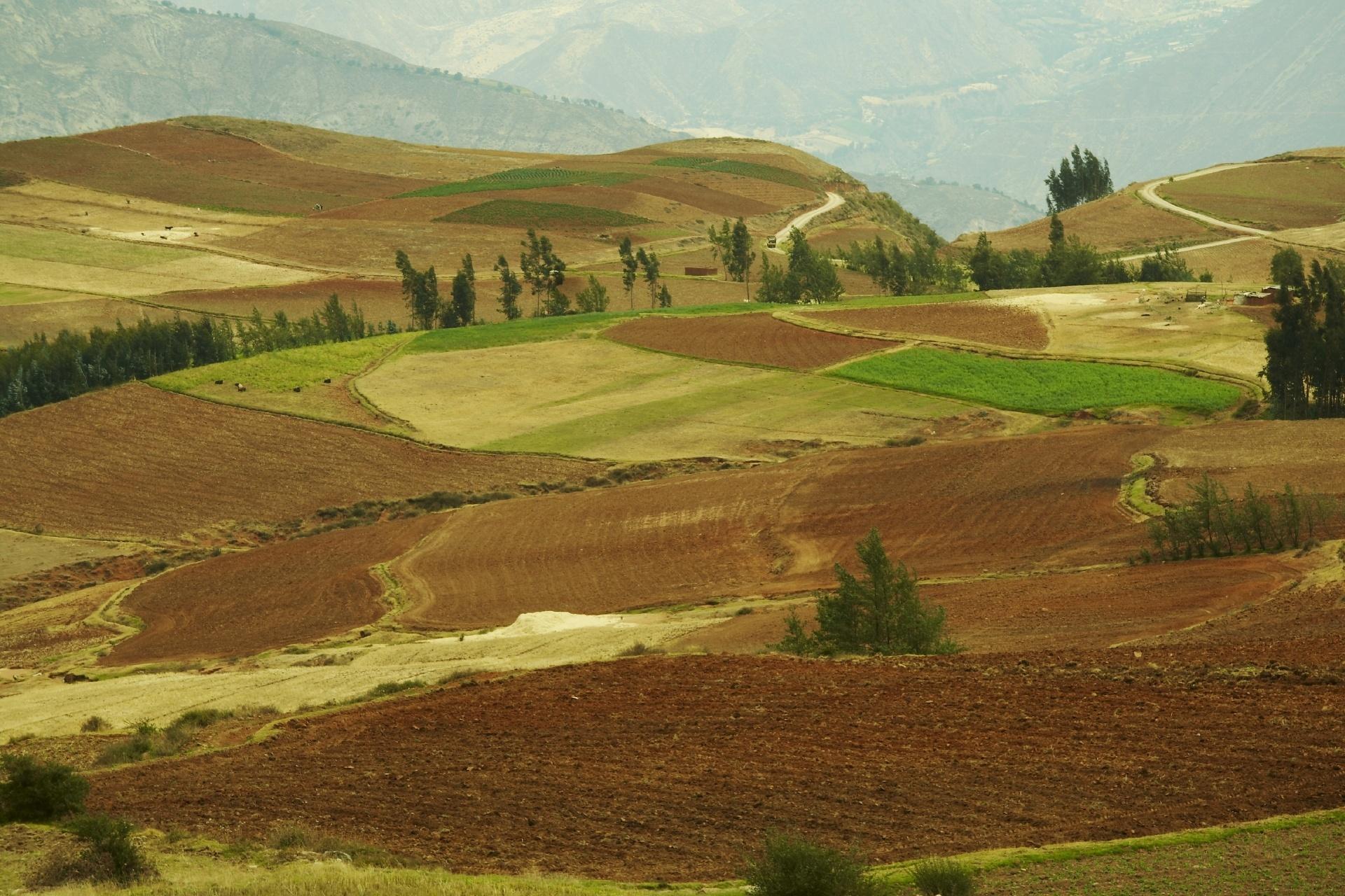 アンデスの風景 ペルーの風景
