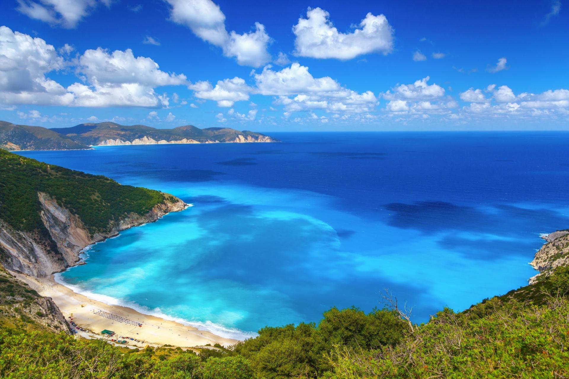 ケファロニア島 ミルトス ビーチの風景 ギリシャの風景