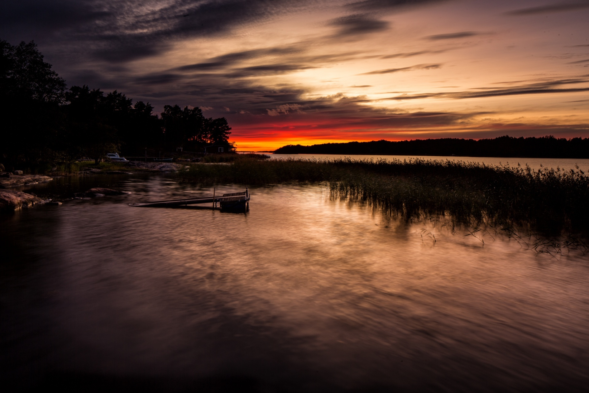 北欧の夕暮れ 北欧の風景