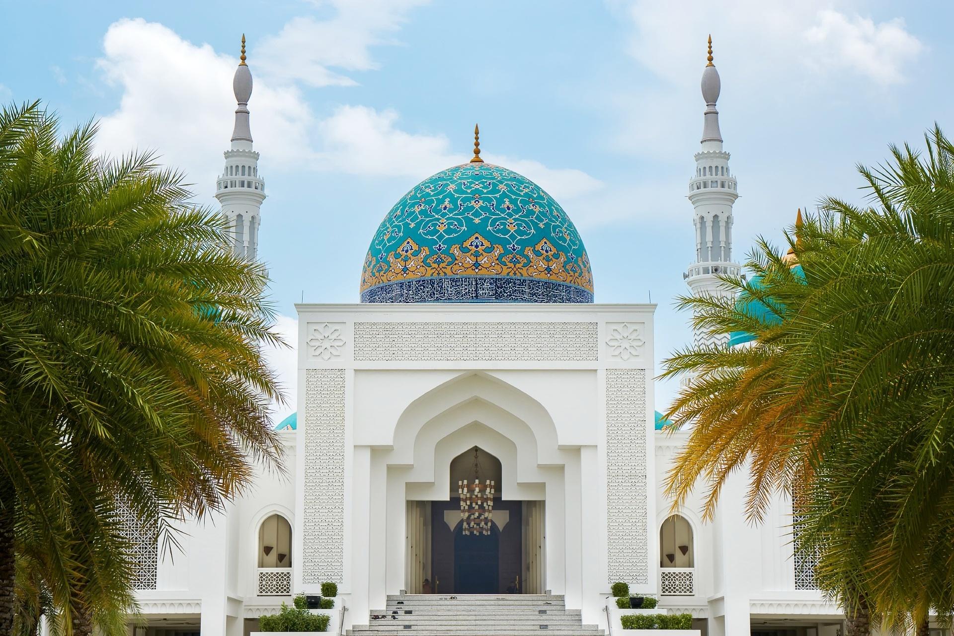 モスクのある風景 マレーシアの風景