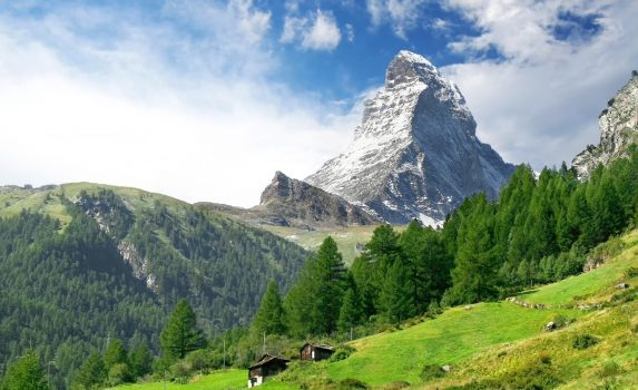 スイスアルプス マッターホルンの風景 スイスの風景