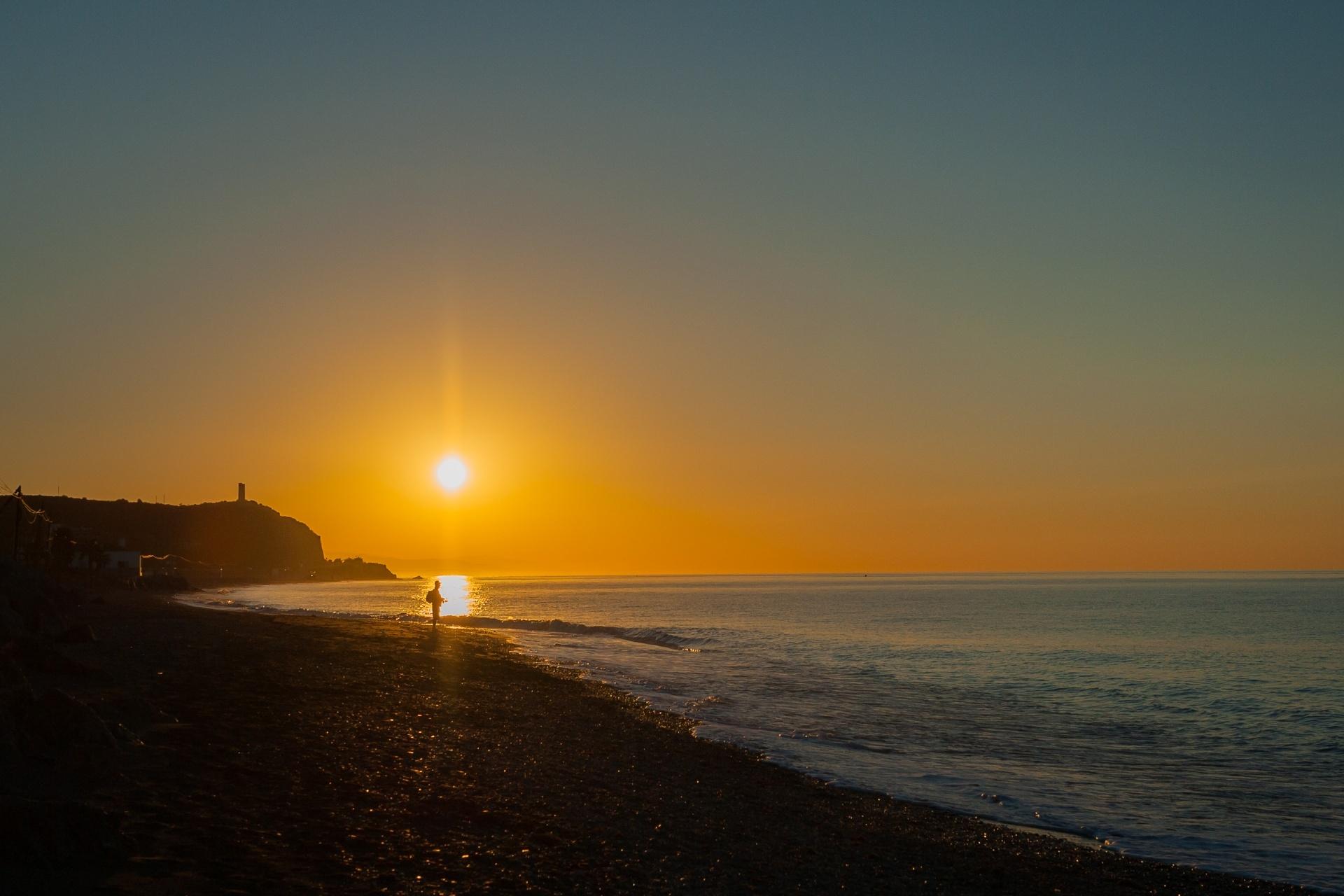 アルブフェイラの朝の風景 ポルトガルの風景