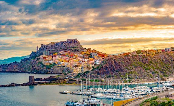カステルサルド旧市街の風景 サルデーニャの風景 イタリアの風景