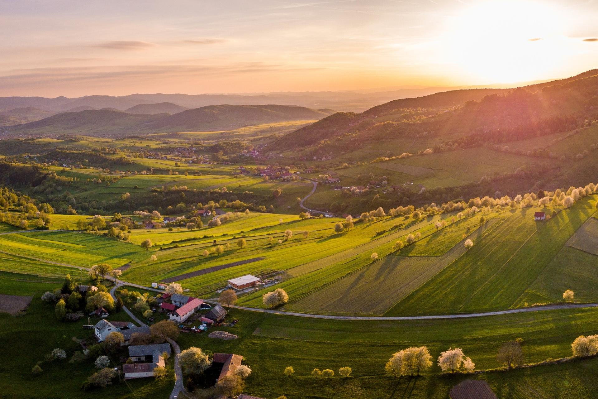 春のポラナの風景 スロバキアの風景