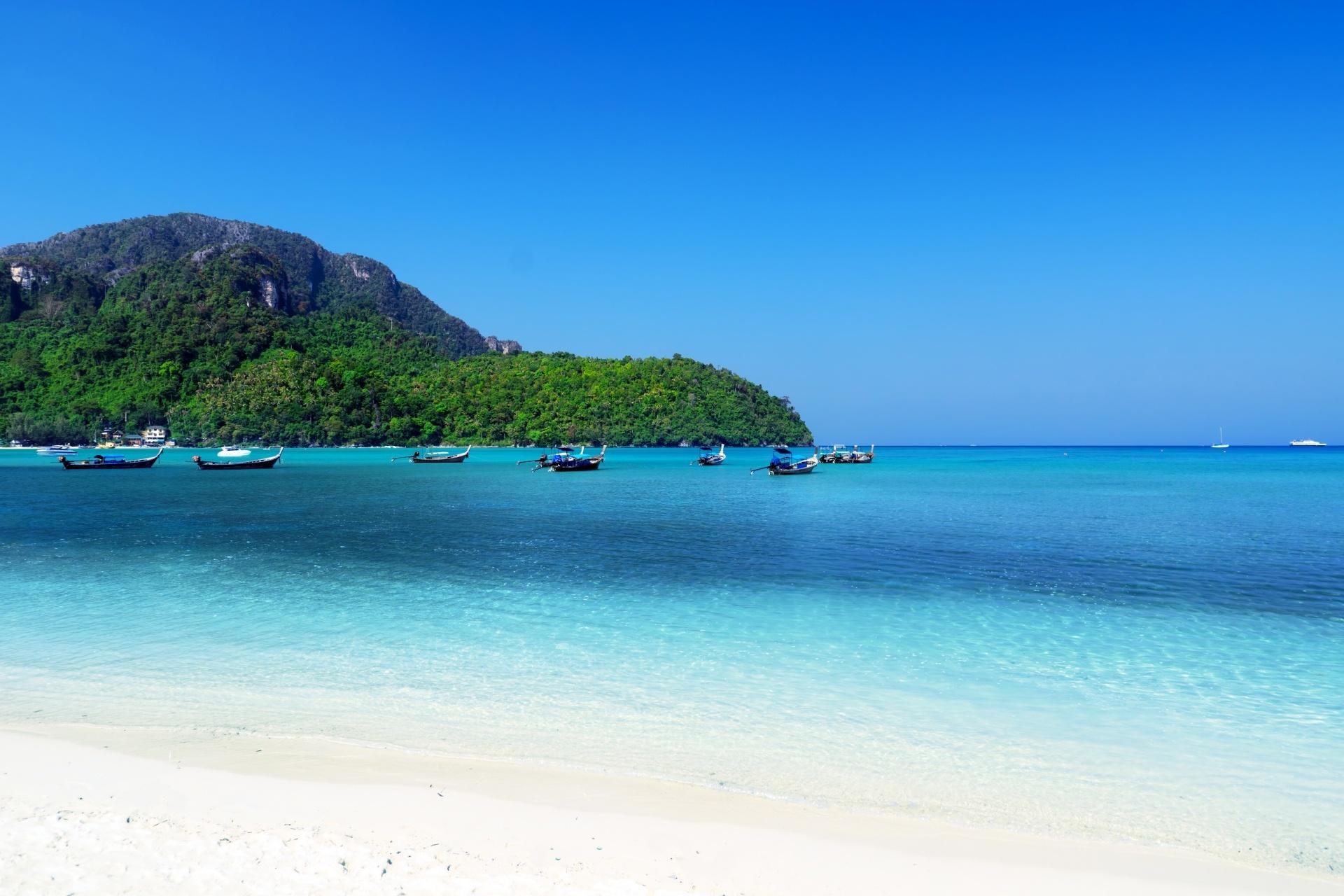 ピピ諸島の風景 タイの風景