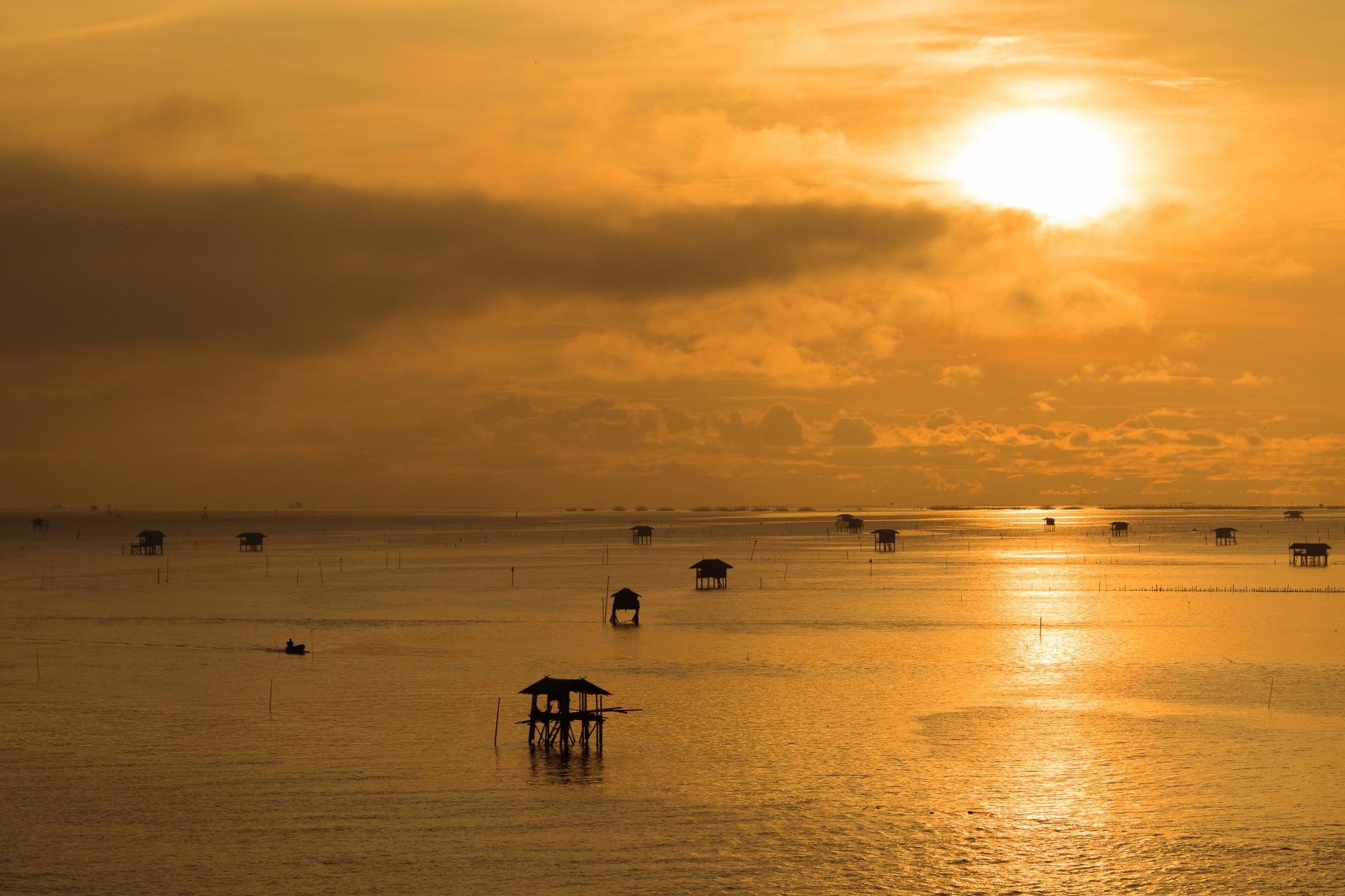 朝のバンタブーン タイの風景
