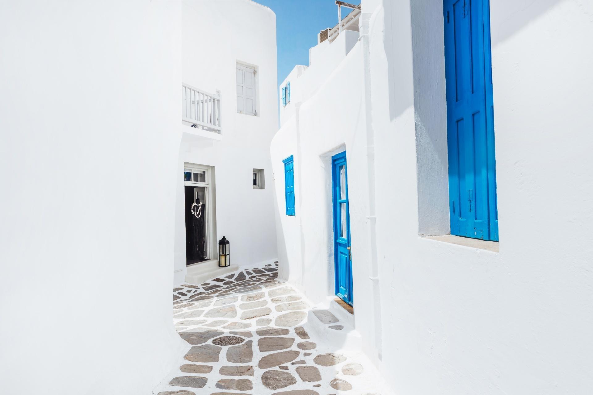 ミコノス島の風景 ギリシャの風景