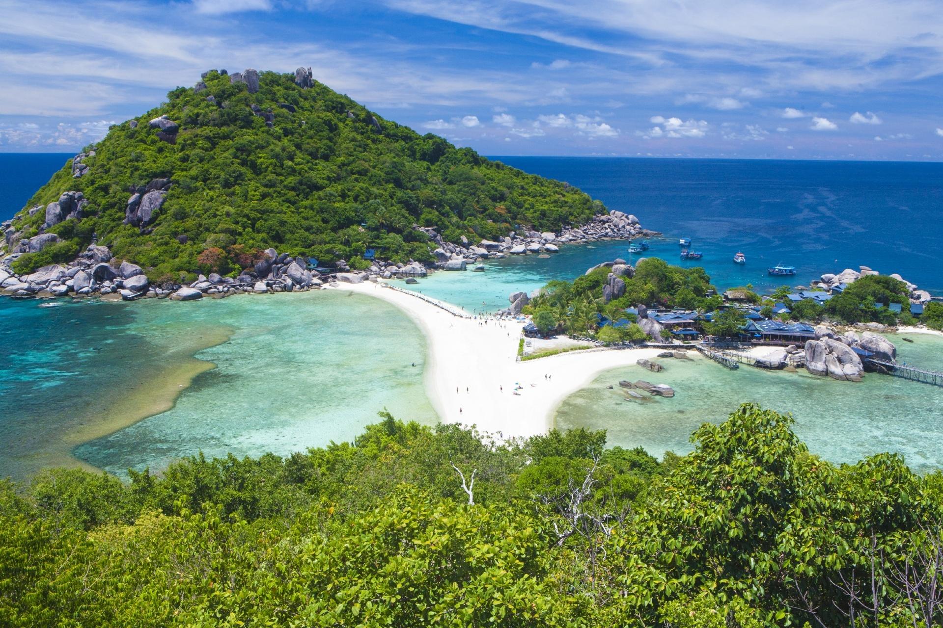 ナンユアン島の風景 タイの風景