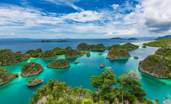 西パプア ラジャ・アンパットの島々 インドネシアの風景