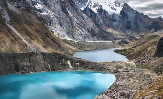 アンデス・ワイワッシュ山群トレッキングの風景 ペルーの風景