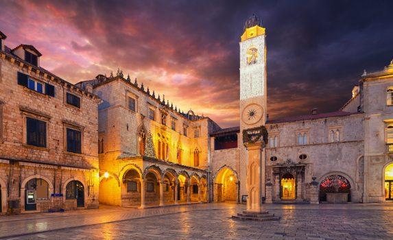 ドゥブロヴニク ストラドゥン通りの風景 クロアチアの風景