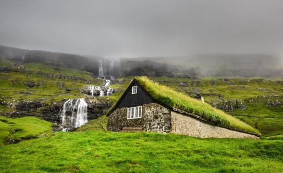 ストレイモイ島の風景 フェロー諸島 デンマークの風景