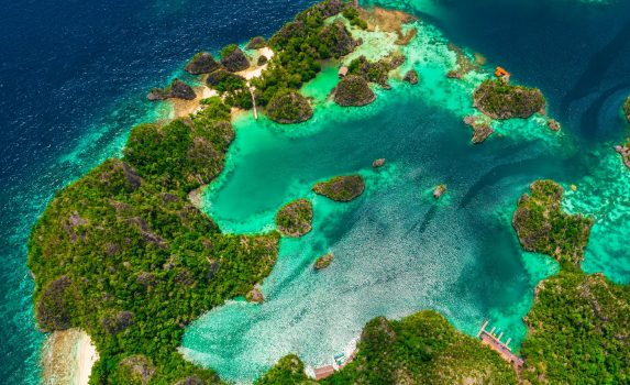 ピアネモ諸島の風景 インドネシアの風景
