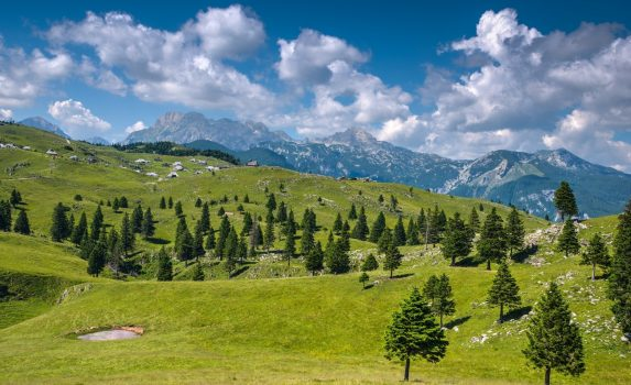 ヴェリカプラニナの風景 スロベニアの風景