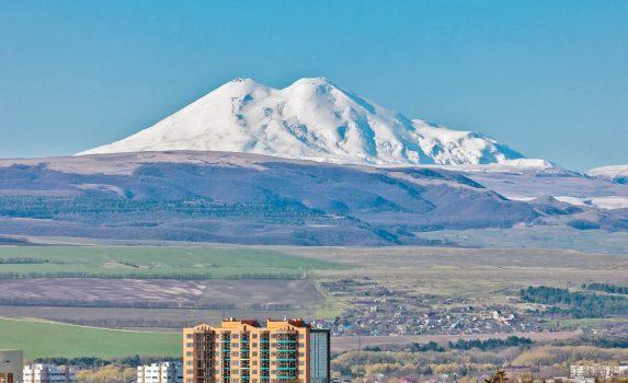 ロシア コーカサス地方の風景 ロシアの風景