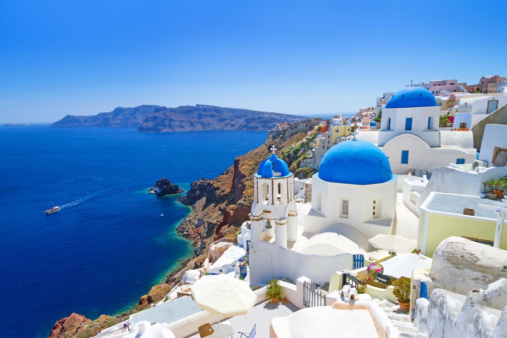 サントリーニ島 ギリシャの風景