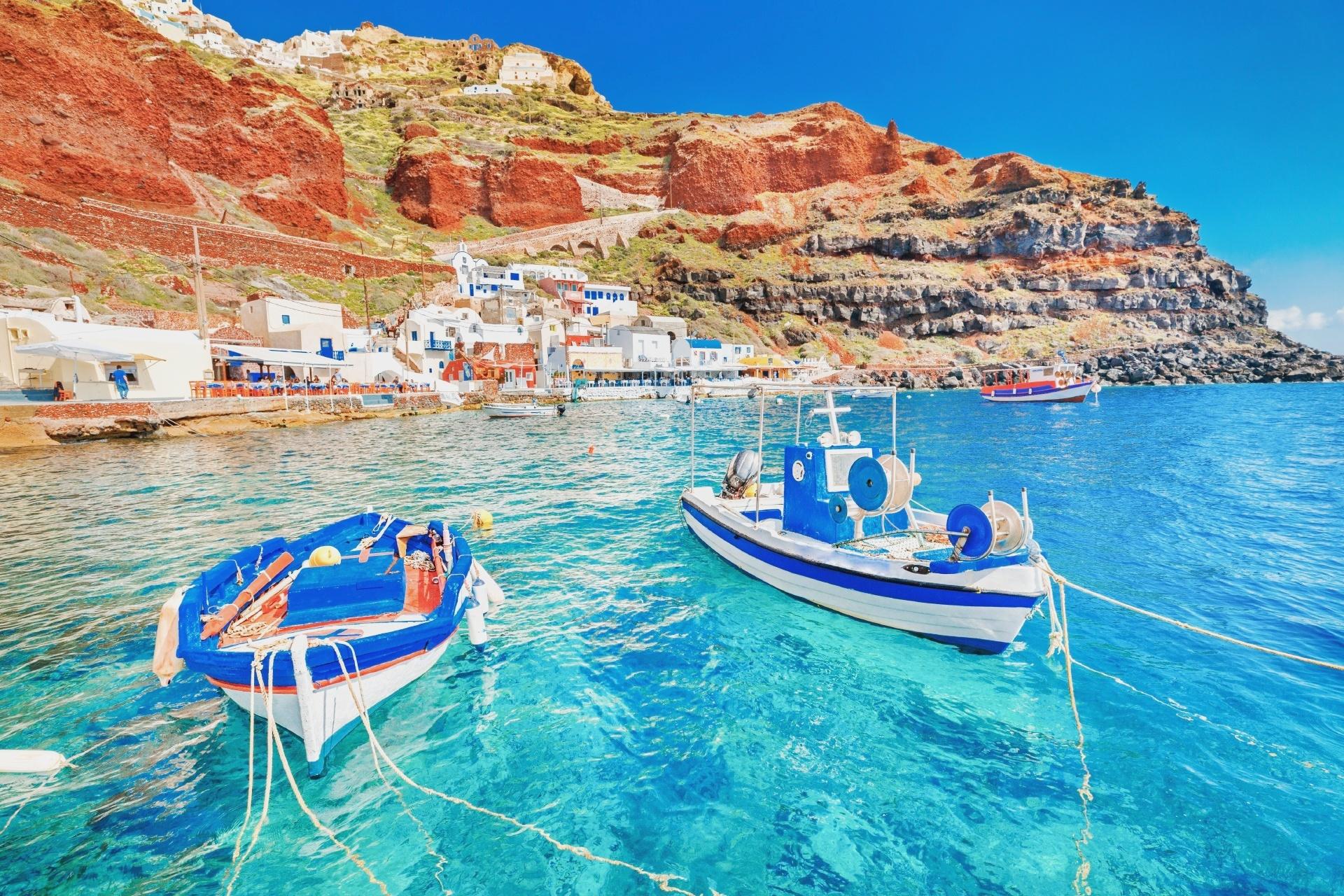 サントリーニ島イア村の風景 ギリシャの風景