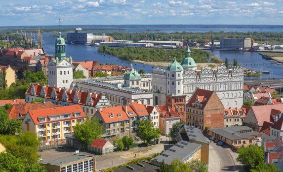 シュチェチンの風景 ポーランドの風景