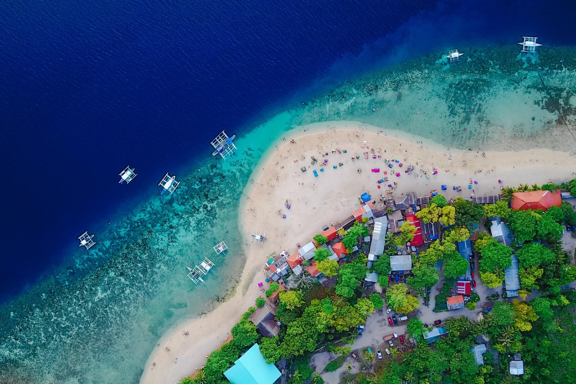 スミロン島の風景 フィリピンの風景