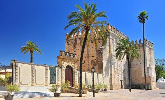 ヘレス・デ・ラ・フロンテーラのアルカサル スペインの風景