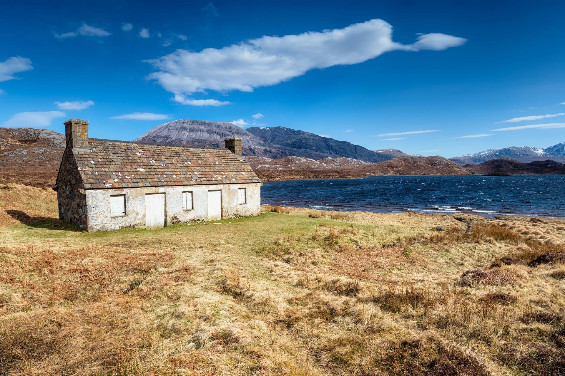 スタック湖の風景 スコットランドの風景