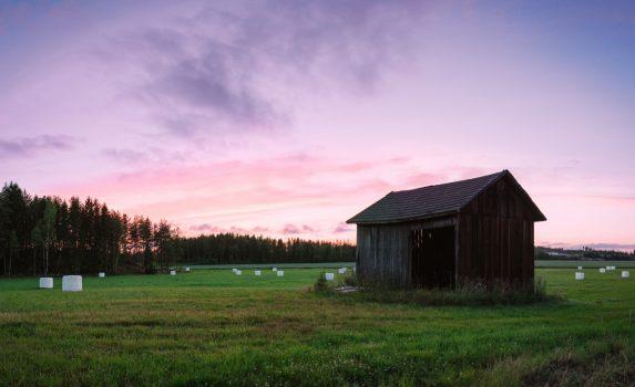 夕暮れのルスコの風景 フィンランドの風景