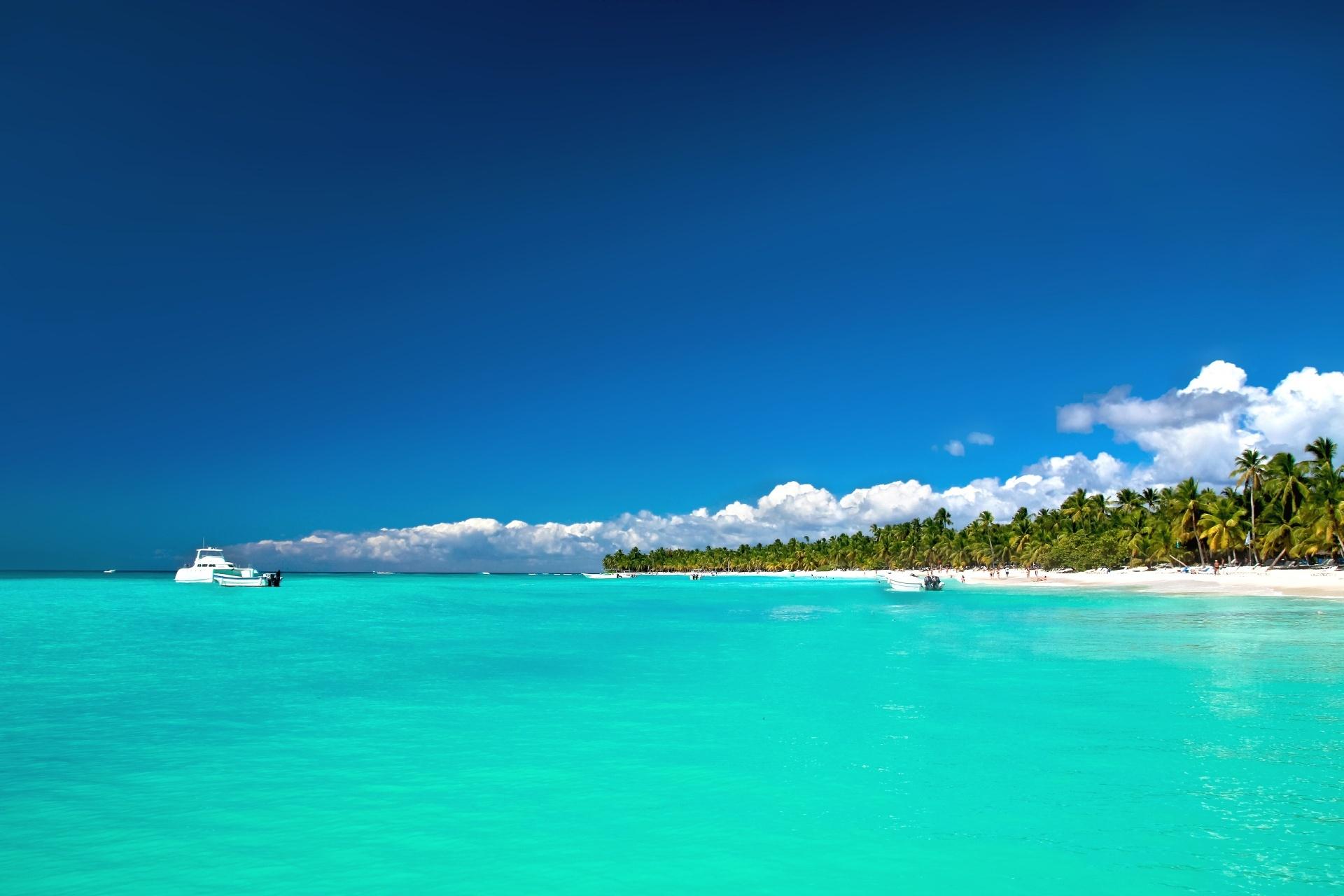 カリブ海 サオナ島の風景 ドミニカ共和国の風景