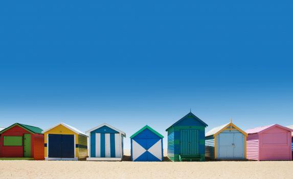 ブライトン・ビーチの風景 オーストラリアの風景